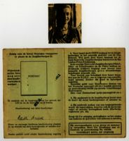 Youth hostel ID belonging to Edith Bruch (date of issue unknown), accompanied by a picture of Edith Bruch, renewed in 1934