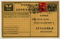 Notification of change of address by S. Loeb, Amsterdam, 1936