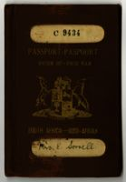 Union of South Africa passport belonging to Mrs. Edith Sorrell, 1938
