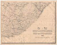 Map of the Union of South Africa