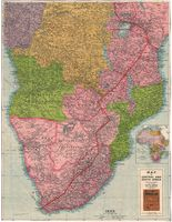 Map of central and south Africa