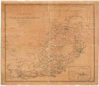 Postal route map of the Union of South Africa