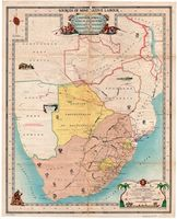 Map of southern Africa : showing the recruiting systems of the Native Recruiting Corporation and the Witwatersrand Native Labour Association