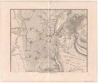 Plan von Kairo nebst umgebung mit der gegend des alten Memphis und den pyramiden gruppen von Gizeh und Sakkarah. Plate 2