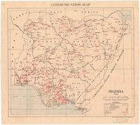 Communication map : Nigeria