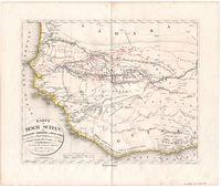 Karte von Hoch Sudan, dem westlichen Nordrande von Hoch-Afrika, dem grössten Theile von Nord Guinea, und den Wassersystemen des Senegal, Gambia, Rio-Grande u. obern Niger