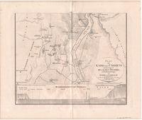 Plan von Kairo nebst umgebung mit der gegend des alten Memphis und den pyramiden gruppen von Gizeh und Sakkarah. Plate 1