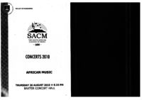 African Music 2010, Baxter Concert Hall, Cape Town, South Africa