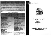 UCT Big Band, Baxter Concert Hall, Cape Town, South Africa