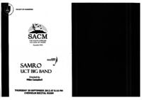 SAMRO UCT Big Band, Chisholm Recital Room, South African College of Music, Cape Town, South Africa