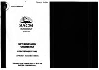 UCT Symphony Orchestra - Concerto Festival, Baxter Concert Hall, Cape Town, South Africa