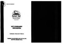 UCT Symphony Orchestra, Baxter Concert Hall, Cape Town, South Africa