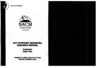 UCT Symphony Orchestra Concerto Festival, Baxter Concert Hall, Cape Town, South Africa