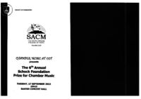 The 6th Annual Schock Foundation Prize for Chamber Music, Baxter Concert Hall, Cape Town, South Africa