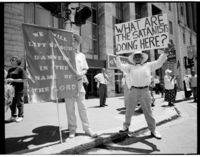 Placard demonstration, Cape Town