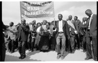 Hostel burial society march, Malmesbury, Western Cape