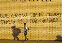 Black resistance graffiti, Johannesburg, South Africa