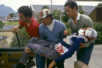 Youth injured in anti-apartheid protest, Cape Town, South Africa