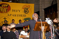 Defy Apartheid church service, Cape Town, South Africa