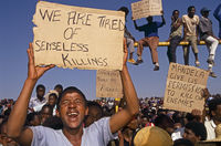 Protest against Boipatong massacre, Boipatong, South Africa