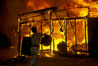 Home set alight in pre-election violence, Durban, South Africa