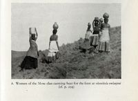 Women of the Mose clan carrying beer for the feast of ukunikela emlanjeni