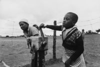 Communal borehole, Mpukonyoni