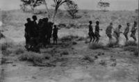 /auni and Kattia Bushmen dance at Kyky on Nossop