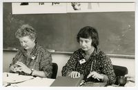[Sheena Duncan & Rosemary van Wyk Smith at the Black Sash National Conference, 1989]