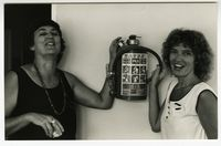 [Sue Philcox & Wendy Anneke at the Black Sash National Conference, 1989]