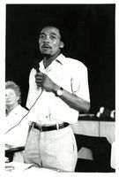 Mkuseli Jack addressing National Conference in Port Elizabeth 1985