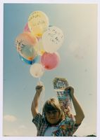 Free the Children balloon launch, Durban, January 1987