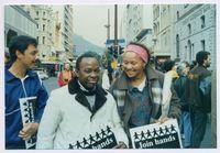 The Bishop Tutu lead [sic] Peace March