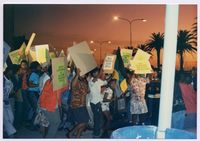 [ANC protest outside SABC TV Studios at Sea Point on 15/05/1991]