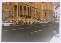 Sash Vigil outside City Hall after the death of Chris Hani, April 1993