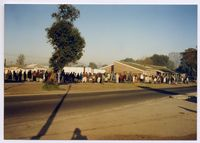 A pension pay-out queue at the provincial offices - Langa