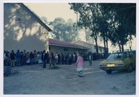 Pension pay-out queues at the Zolani Centre Nyanga 1993