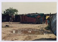 Conditions in shack areas of Old Crossroads, 1990s