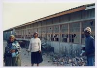 Mothers of Crossroads show us the conditions of the school - a polling Station in April 1994