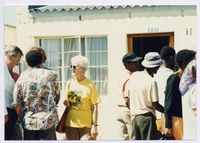 Outside the home of Joyce Ndinisa Elles after her murder on 19/03/1993, Unathi Village