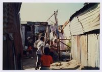 [Group of children in section 4 of Old Crossroads, 1993]