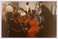 At a TRC hearing at Cape Town Adderley Street Offices; relatives and officials 1996