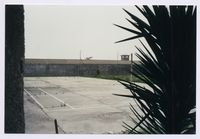 The inner courtyard exercise area on Robben Island