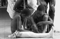 War injured children in the Josina Machel Hospital, Luanda.
