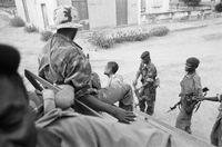 Commandos from Forças Armadas Angolanan  assault a suspected União Nacional para a Independência Total de Angola soldier