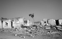 Ngive (a border town in Southern Angola) in ruins after the withdrawal of troops from the South African Defence Force in 1990.