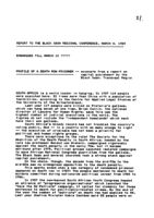 Profile of a Death Row Prisoner: Paper Presented at National Conference 1989