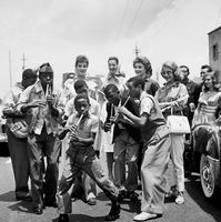 Lemmy Mabaso and The Pennywhistlers, Johannesburg, 1954