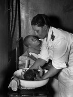Birth of a baby, Sophiatown, 1951