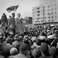 Violet Hashe, Defiance Campaign meeting, Johannesburg, 1952